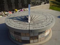 photo of Air India Flight 182 sundial