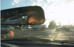 photo of sun glare through windshield