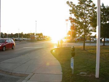 photo of sun 2 degrees above horizon