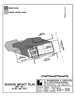 Shadow study diagram for house addition